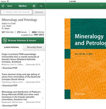 Mineralogy and Petrology apk screenshot