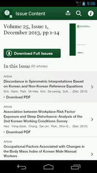 Annals of Occup & Environ Med apk screenshot