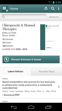 Chiropractic Manual Therapies poster