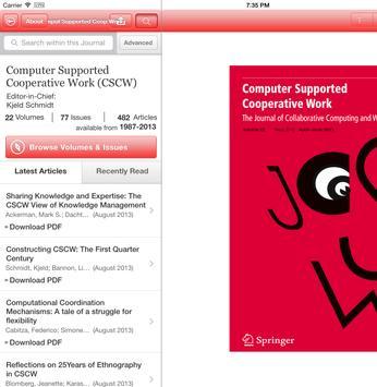 CSCW Journal apk screenshot