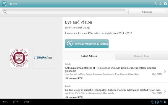 Eye and Vision apk screenshot