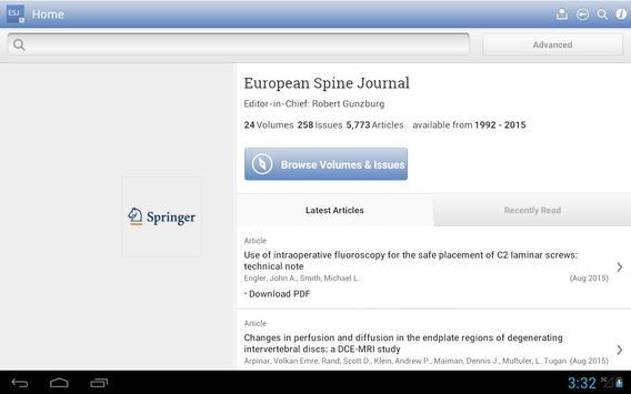 European Spine Journal apk screenshot