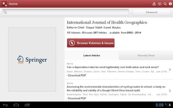 Journal of Health Geographics apk screenshot