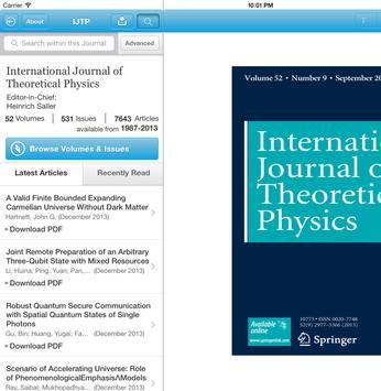 Intl J of Theoretical Physics apk screenshot