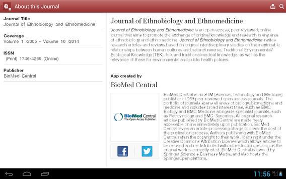 J Ethnobiology & Ethnomedicine apk screenshot