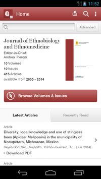 J Ethnobiology & Ethnomedicine poster