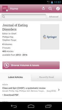 Journal of Eating Disorders poster