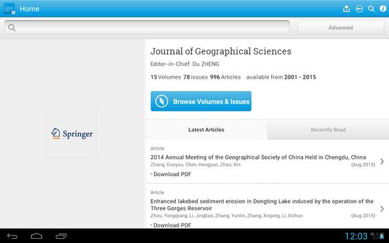 J of Geographical Sciences apk screenshot