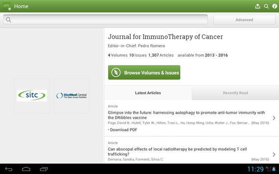 J ImmunoTherapy of Cancer apk screenshot