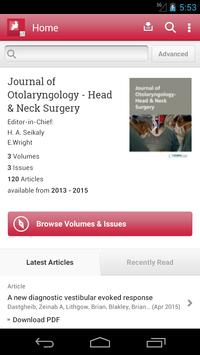 J of Otolaryng Head &Neck Surg poster