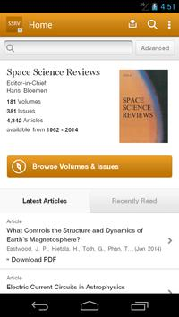 Space Science Reviews poster
