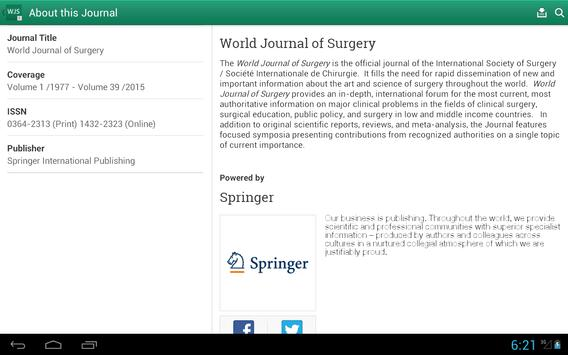 World Journal of Surgery apk screenshot