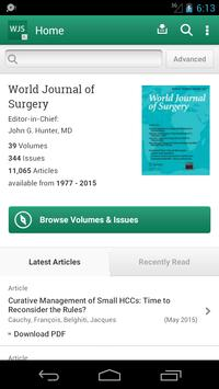 World Journal of Surgery poster