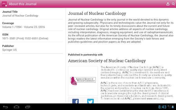 Journal of Nuclear Cardiology apk screenshot