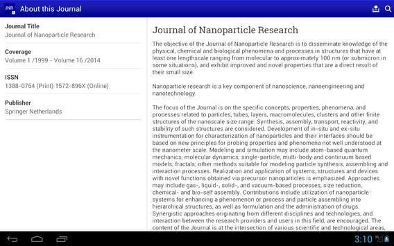 J of Nanoparticle Research apk screenshot