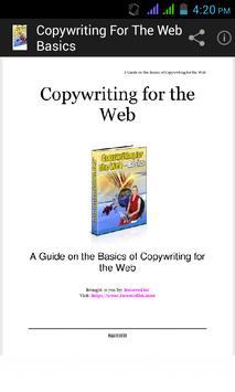 Copywriting for the Web Basics poster