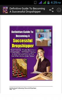 Successful Drop shipper Guide. poster