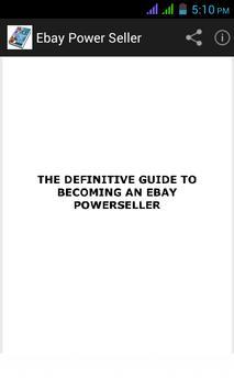 Ebay Power Seller poster
