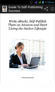 Guide to Self Publish Success. poster