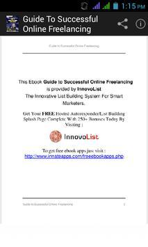 Guide to Online Freelancing. apk screenshot