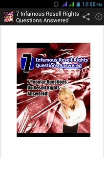 Resell Rights Questions Answer poster