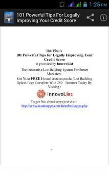 Tips for Improving Your Credit apk screenshot