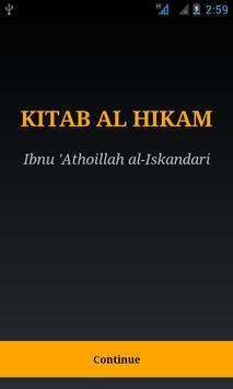 Kitab Al Hikam-Ibnu Athoillah poster