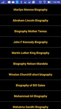 Famous Biographies poster