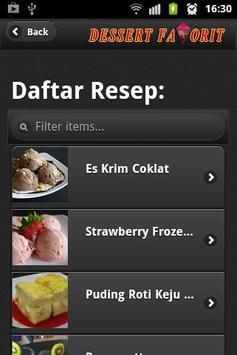 Menu Dessert Favorit apk screenshot