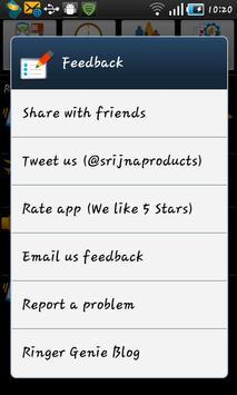 Ringer Genie Lite apk screenshot