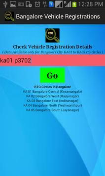 Bangalore Registered Vehicles poster