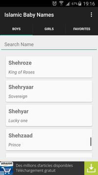 Islamic Baby Names Meanings apk screenshot