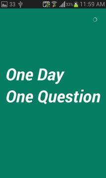 One Day One Question poster