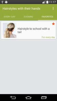 Hairstyles with their hands apk screenshot