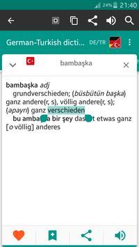 German-turkish dictionary apk screenshot