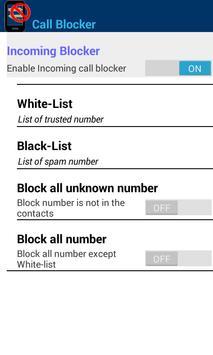 Call Blocker-Blacklist apk screenshot