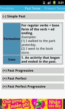 English tenses for speakers apk screenshot
