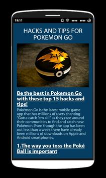Tips to Play PokemonGo Game poster
