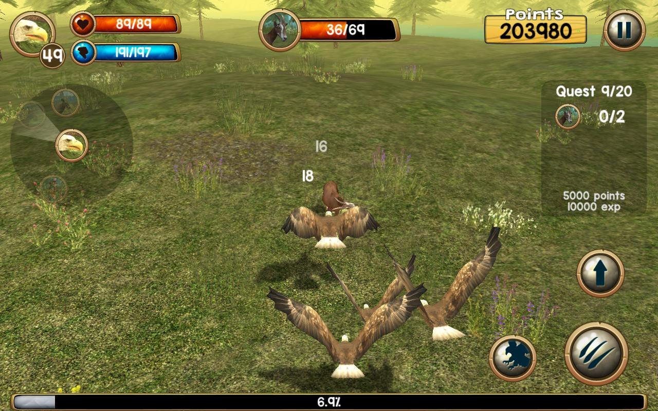 Wild eagle sim 3d apk download free simulation game for for Simulatore 3d