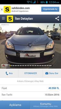İkinci el Arabalar Türkiye apk screenshot