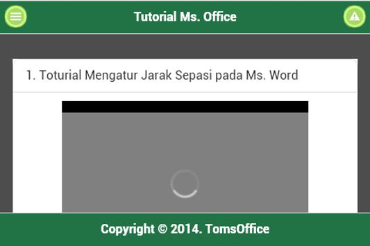 TomsOffice Tutorial Ms.Office apk screenshot