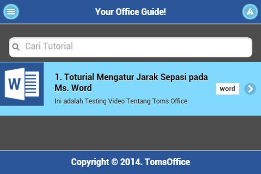 TomsOffice Tutorial Ms.Office poster