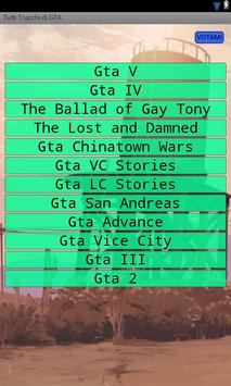Tutti Trucchi di GTA poster