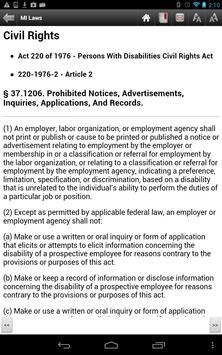 Michigan Laws, MCL apk screenshot