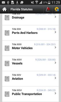 Florida Statutes (FL Code) apk screenshot