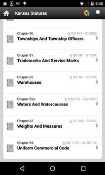 Kansas Statutes, KS Laws  code apk screenshot