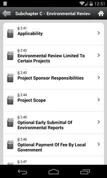 Texas Administrative Code, TAC apk screenshot