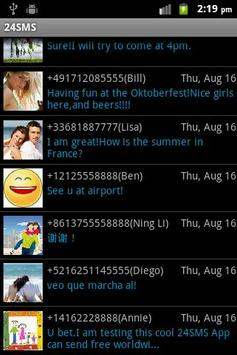 24SMS - Free International SMS apk screenshot