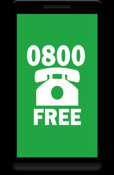 Call 0800 Free poster