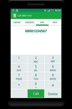 Call 0800 Free apk screenshot